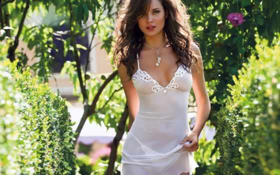 платье, white, прозрачных