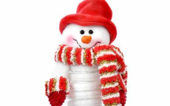 снеговик, новый, год