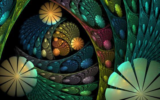 abstract, зелёный, fractal