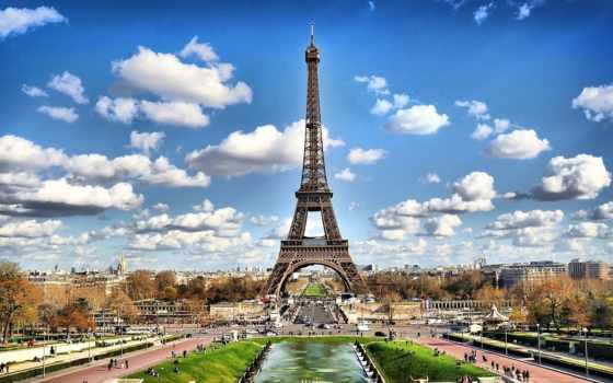 париж, эйфелева, башня, eiffel, turret,