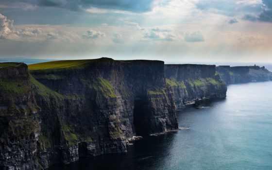 скалы, cliffs, break, мохер, ireland, фьорды, берег, бесплатные, мохер, всех,