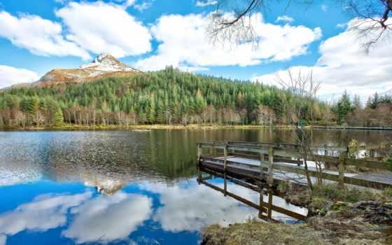 glencoe, шотландия, долина, мост, река, pierce, гора, пляж,