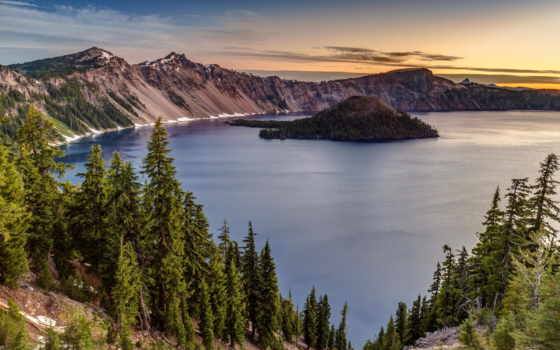 озеро, crater, national, oregon, park, free, stock, photos,