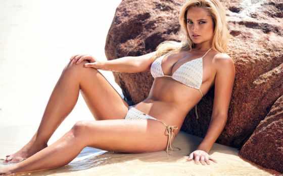 волосы, genevieve, blonde, morton, бикини, модель, женщина, пляж, купальник, black, karlie
