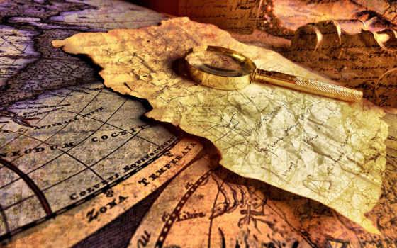 карты, map, старинная
