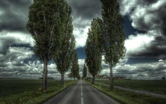 изображение, дорога, небо