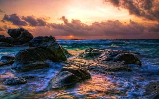 aruba, восход, закат, caribbean, oranjestad,