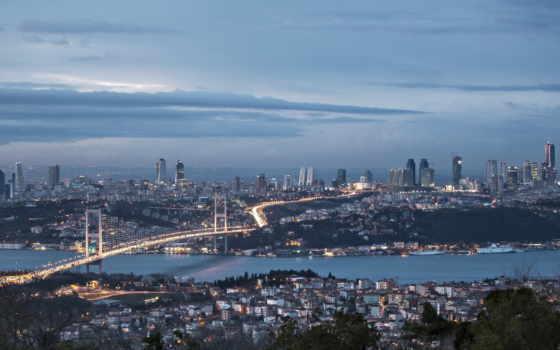 босфор, istanbul, turkey, море, ночь, город, мост, канал,