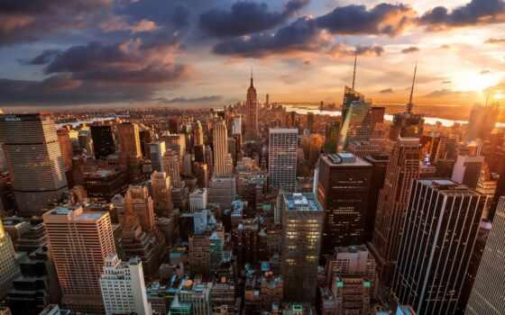 york, new, город, state, build, aerial, империя