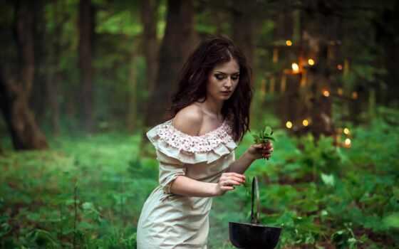 ведьма, witch, магия, privorot, fore, девушка, цветок, фея, томск, зелёный, книга