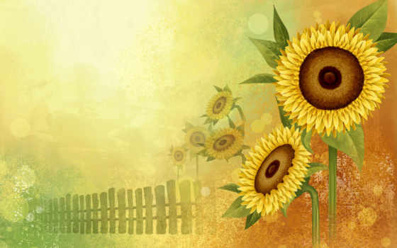 flowers, abstract, sunflower, funny, animals, yellow, orange, sunflowers, www, cart, подсолнухи, art, piicss, просмотров,