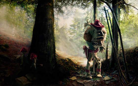 лес, монстр
