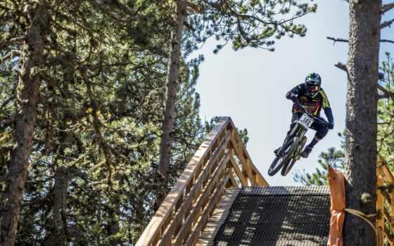 велосипед, прыжок, спорт