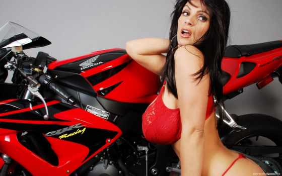 мотоциклы, девушками, мотоцикл