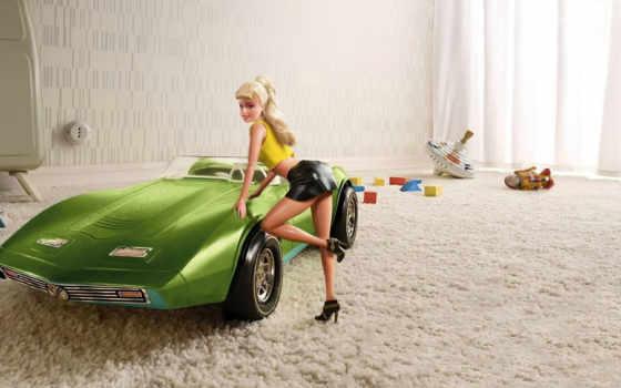 barbie, doll, robot, комната, машина, кубики, игрушки,