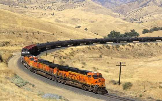 поезд, жд, bnsf, железный, локомотив, рэйлвей, композиция, станция,