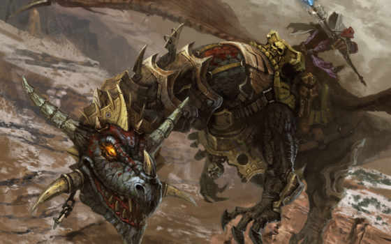 дракон, art, dragons, доспех, horns, fantasy, armored, воин,