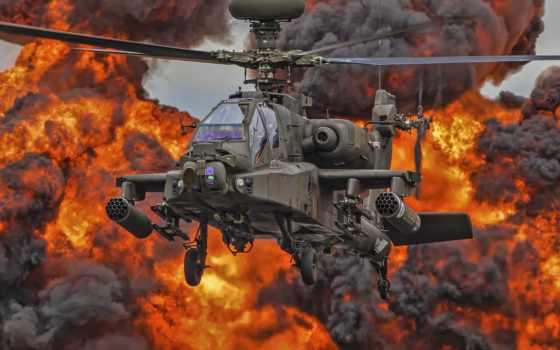 apache, вертолет, attack, ah, mcdonnell, douglas, combat,