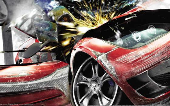 гонки, игры, авария