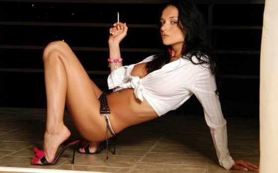 сигаретой, dama, devushka