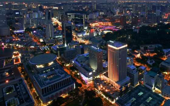 город, ночь, фотоколлаж