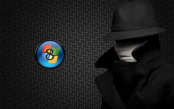 windows 8 лого и человек-невидимка