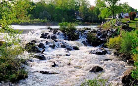 река, ручей, гора