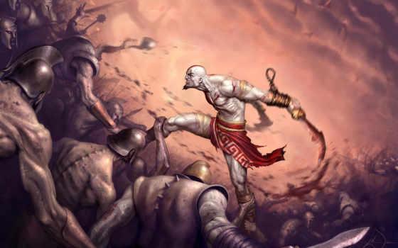 war, god, жёсткие, kratos, баталии, игровые, планшета, игры,