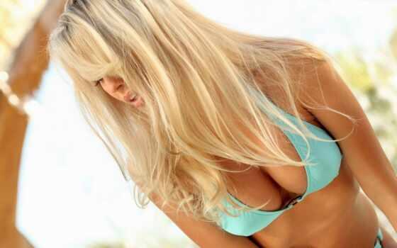 blonde, грудь, купальник