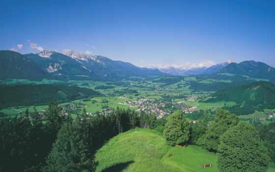 виндишгарстен, австрия, landscape, верху, вид,