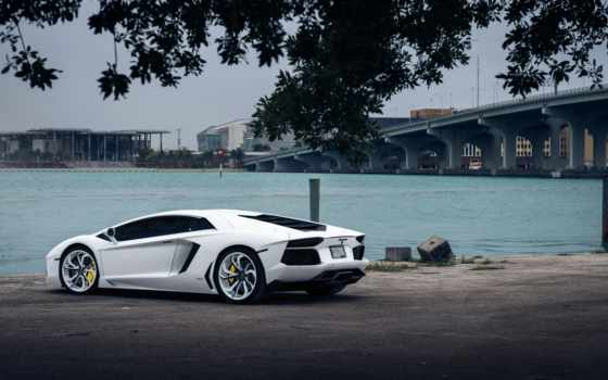lamborghini, aventador, description, товара, панорамная, white,