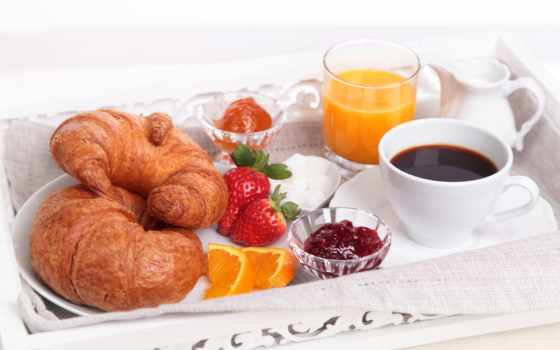 kruassannyi, завтрак, оранжевый, coffee, juice, glass, джем
