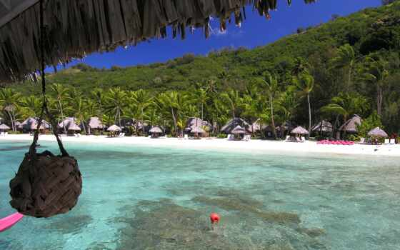 бор, bora, ноутбук, компьютер, пляж, изба, буй, планшетный, остров