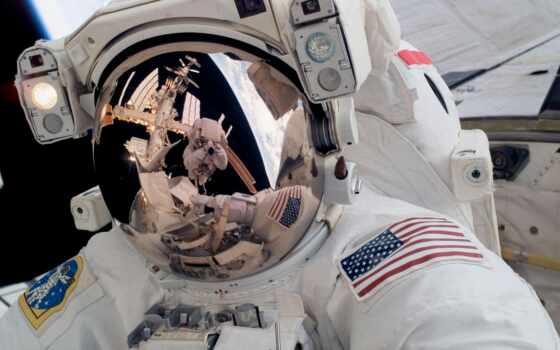 nasa, гифка, космос, астронавт, красивый, скафандр