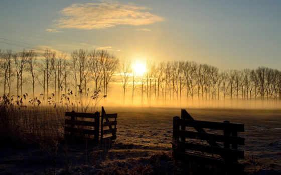закат, поле, landscape Фон № 77341 разрешение 2560x1600