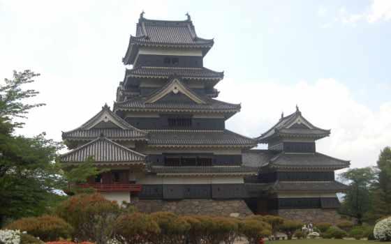 япония, tokyo, замок