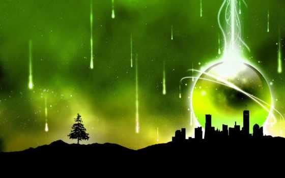 зелёный, природа, об