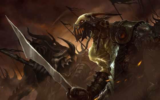 монстры, fantasy, оружие, monster, фантастика, воители, армия, меч, zoom, войны, armour,