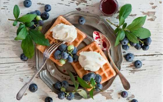 вафли, черника, ягоды, online, house, удовольствие, cooking, десерт, country, puzzle, клубника,