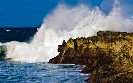 ocean, скалы, берег