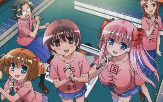 anime, saki, девочки
