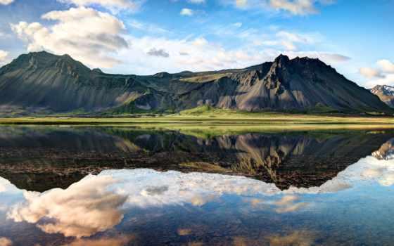 исландии, iceland, фьорды, горы, озеро, западные, туры,