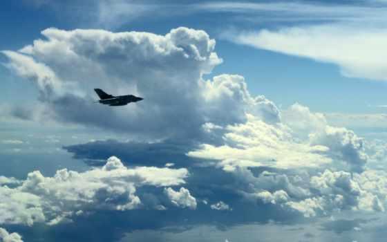 облака, небо, самолёт Фон № 73285 разрешение 2560x1600