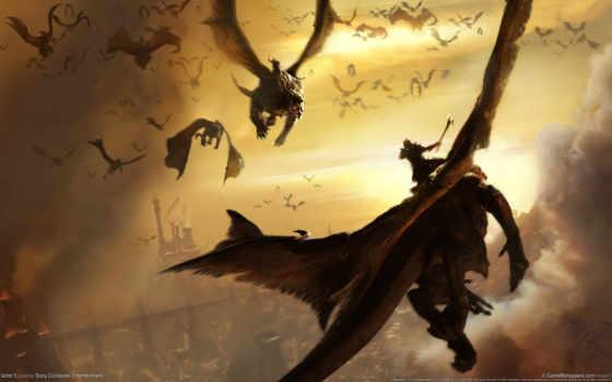 дракон, драконы, dragons, небо, flying, lair, фон,