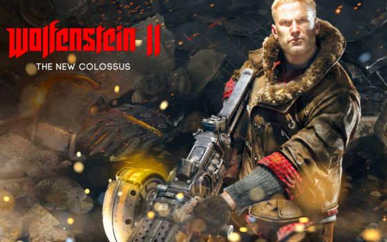 wolfenstein, new, colossus, игры,