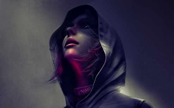 hooded, fantasy, женщина, женский, ipad, девушка, капюшон, воин, art,