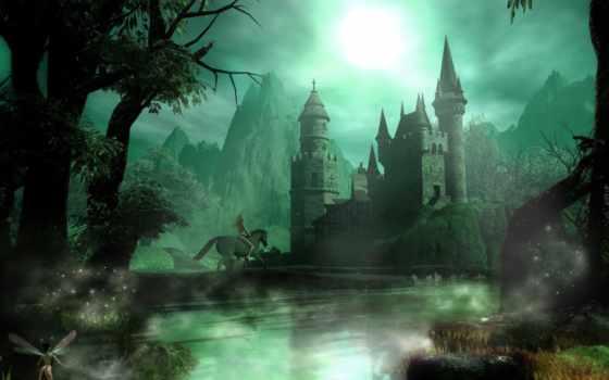 castle, замки, разные