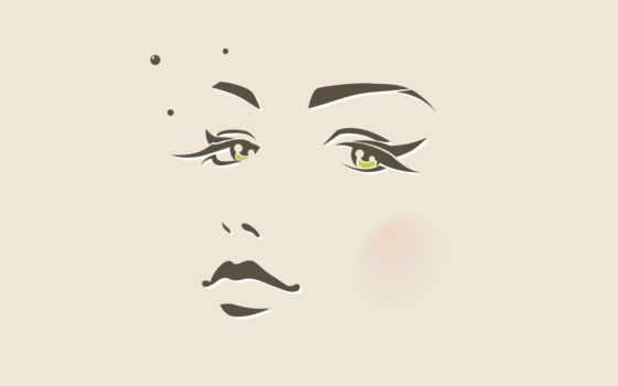 губы, зрачки, лицо, face, девушка, нос, минимализм, глаза,