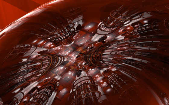 красная абстрация