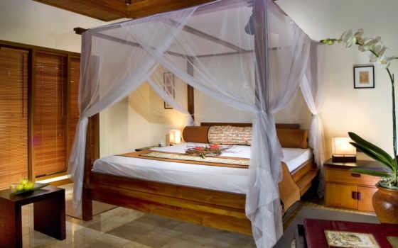 кровать, design, комната